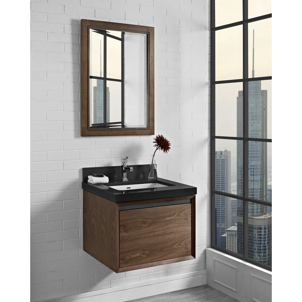 "Fairmont Designs M4 24"" Wall Mount Vanity - Natural Walnutnohtin Sale $775.00 SKU: 1505-WV24 :"