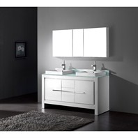 "Madeli Vicenza 60"" Double Bathroom Vanity - Glossy White Vicenza-60-GW"