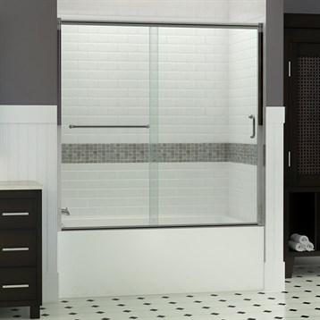 """Bath Authority DreamLine Infinity-Z Frameless Sliding Tub Door, 60"""" SHDR-0960580 by Bath Authority DreamLine"""