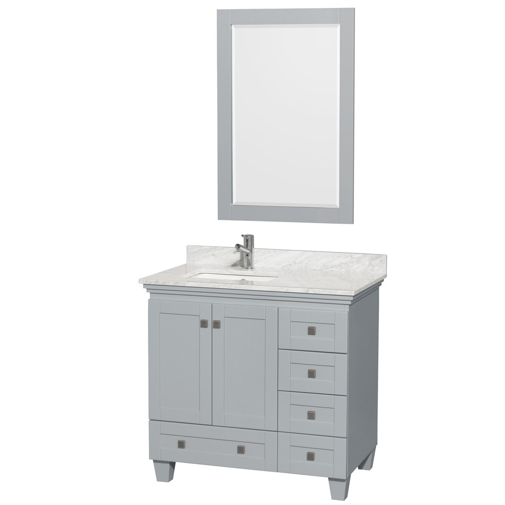 Acclaim 36 in. Single Bathroom Vanity by Wyndham Collection - Oyster Gray WC-CG8000-36-SGL-VAN-OYS- Sale $899.00 SKU: WC-CG8000-36-SGL-VAN-OYS- :