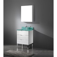 "Madeli Milano 24"" Bathroom Vanity with Integrated Basin - Glossy White B200-24-002-GW"