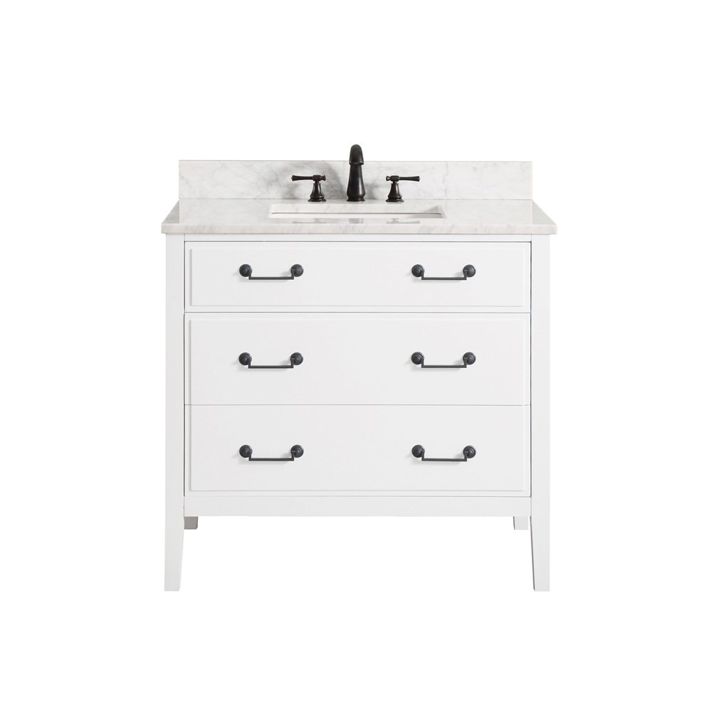 "Avanity Delano 36"" Single Bathroom Vanity - Whitenohtin Sale $816.00 SKU: DELANO-36-WT :"