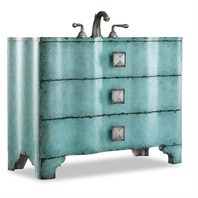 "Cole & Co. 44"" Designer Series Collection Chambers Sink Chest - Turquoise 11.22.275544.38"
