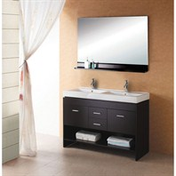 "Virtu USA Gloria 47"" Double Sink Bathroom Vanity - Espresso MD-423-C-ES"