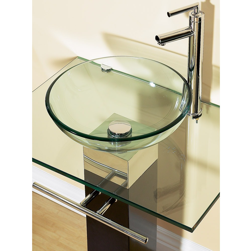 23 bathroom vanities tempered glass vessel sinks combo pedestal ...