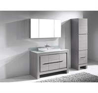 "Madeli Vicenza 48"" Bathroom Vanity for Glass Counter and Porcelain Basin - Ash Grey B999-48C-001-AG-GLASS"