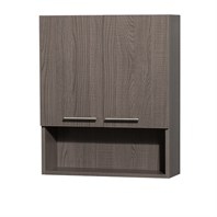 Amare Bathroom Wall Cabinet by Wyndham Collection - Gray Oak WC-RYV207-WC-GRO