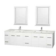 "Centra 80"" Double Bathroom Vanity for Undermount Sinks by Wyndham Collection - Matte White WC-WHE009-80-DBL-VAN-WHT-"