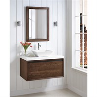"Fairmont Designs M4 36"" Wall Mount Vanity for Vessel Sink - Natural Walnut 1505-WV36--"