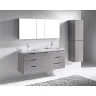 "Madeli Bolano 60"" Double Bathroom Vanity for X-Stone Top - Ash Grey B100-60-002-AG-XSTONE"