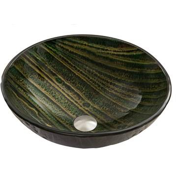 Vigo Green Asteroid Glass Vessel Sink VG07055 by Vigo Industries