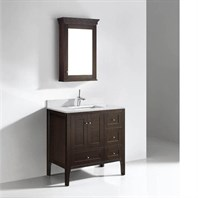 "Madeli Torino 36"" Bathroom Vanity - Walnut B972-36C-001-WA"