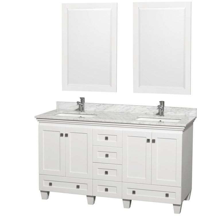 Acclaim 60 in. Double Bathroom Vanity - White WC-CG8000-60-DBL-VAN-WHT-