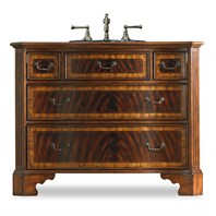 "Cole & Co. 46"" Designer Series Collection Bishop Sink Chest - Primavera and Mahogany 11.22.275546.12"