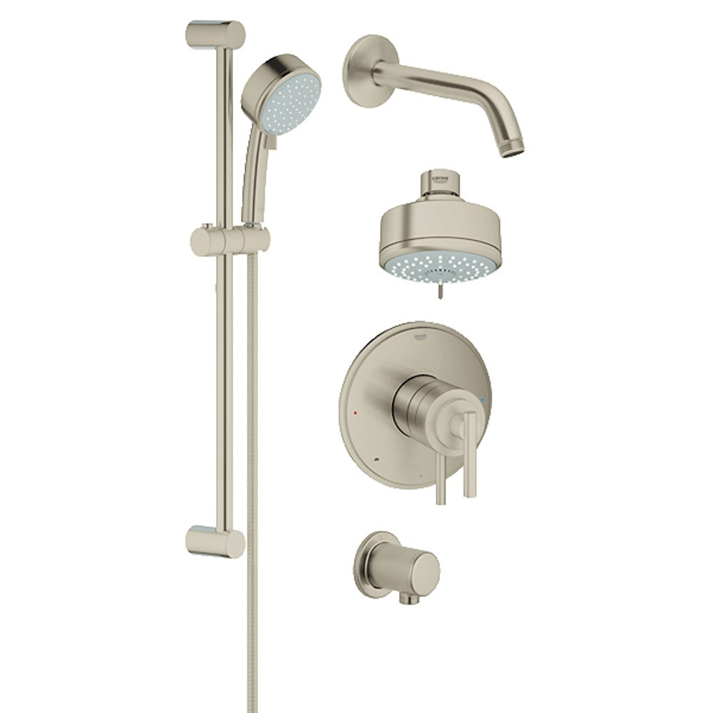 Grohe Atrio Grohflex Bath and Shower Set - Brushed Nickel GRO 35055EN1