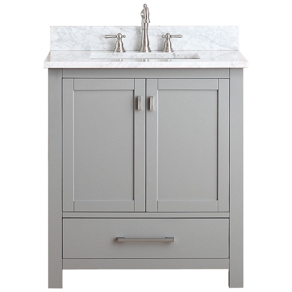 "Avanity Modero 30"" Single Bathroom Vanity - Chilled Gray"