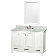 "Abingdon 48"" Single Bathroom Vanity Set by Wyndham Collection - White WC-1515-48-WHT"