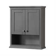 Deborah Over-Toilet Wall Cabinet by Wyndham Collection - Dark Gray WC-2020-WC-DKG