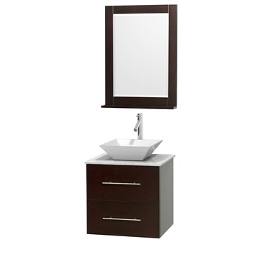 "Centra 24"" Single Bathroom Vanity for Vessel Sink by Wyndham Collection, Espresso WC-WHE009-24-SGL-VAN-ESP_ by Wyndham Collection®"