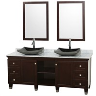 "Premiere 72"" Bathroom Double Vanity Set by Wyndham Collection - Espresso WC-CG5000-72-ESP-"