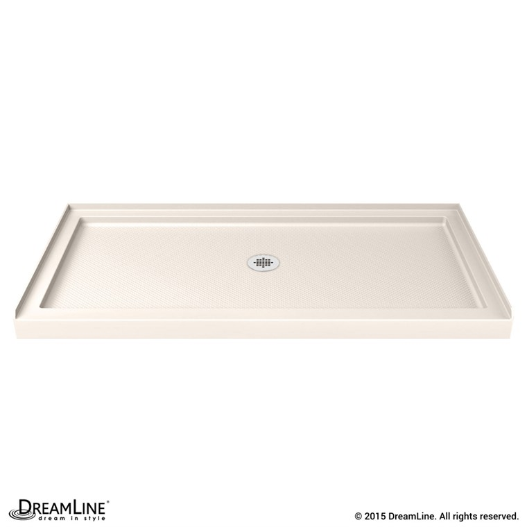 "Bath Authority DreamLine SlimLine Single Threshold Shower Base (32"" by 48"") - Biscuit DLT-1132480-22"