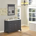 "Fairmont Designs Framingham 48"" Vanity for Integrated Top - Obsidian 1508-V48-"