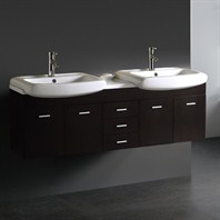Vigo 59-inch Double Bathroom Vanity - Wenge VG09001104K1