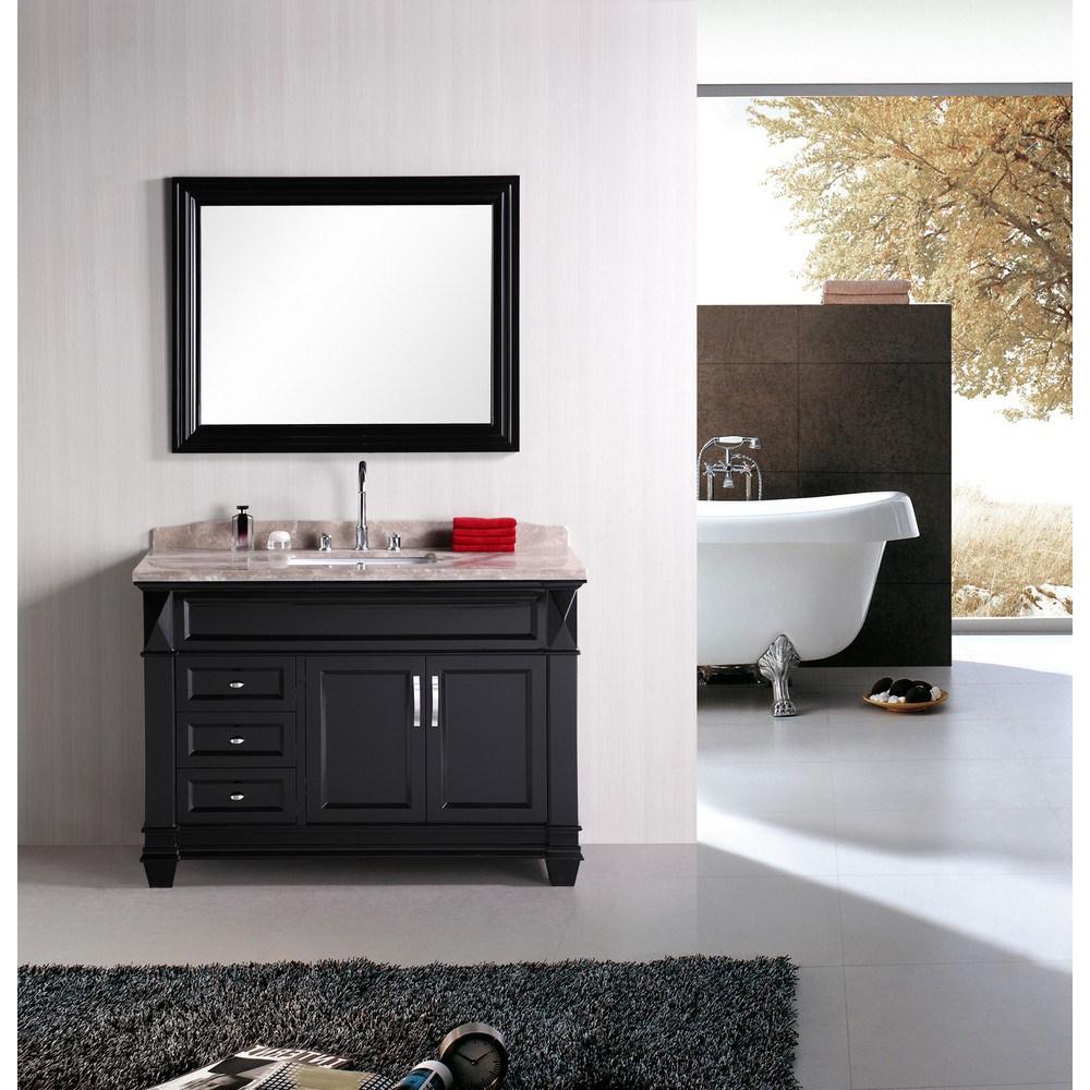 "Design Element Hudson 48"" Single Sink bathroom vanity set - Espressonohtin Sale $1499.00 SKU: DEC059B :"