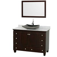 "Acclaim 48"" Single Bathroom Vanity Set with Vessel Sink by Wyndham Collection - Espresso WC-CG8000-48-ESP-OM"