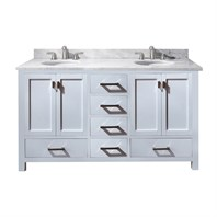 "Avanity Modero 60"" Double Bathroom Vanity - White MODERO-60-WT"