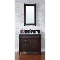 "James Martin 36"" Brittany Single Vanity - Burnished Mahogany 650-V36-BNM"