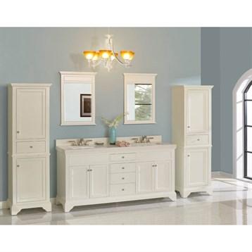 """Fairmont Designs Framingham 72"""" Double Bowl Vanity for Quartz Top, Polar White 1502-V7221D_ by Fairmont Designs"""