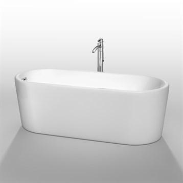 """Ursula 67"""" Soaking Bathtub by Wyndham Collection, White WC-BTK1511-67 by Wyndham Collection®"""