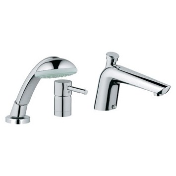 Grohe Essence Roman Tub Filler with Personal Hand Shower - Starlight ...