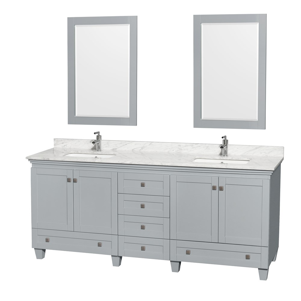 Acclaim 80 inch Double Bathroom Vanity by Wyndham Collection Oyster Gray