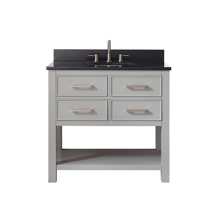 "Avanity Brooks 36"" Single Bathroom Vanity - Chilled Gray BROOKS-36-CG"