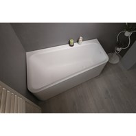 Aquatica Jane-Wht Solid Surface Corner Bathtub - White Aquatica Jane-Wht-Std