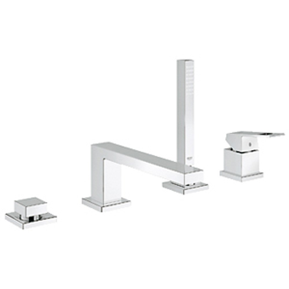Grohe Eurocube 4-Hole Single-lever Bath Combination - Starlight Chromenohtin Sale $1229.99 SKU: GRO 19897000 :
