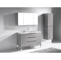 "Madeli Milano 48"" Bathroom Vanity for X-Stone Integrated Basin - Ash Grey B200-48-002-AG-XSTONE"