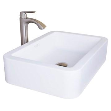 Vigo Petunia Matte Stone Vessel Bathroom Sink VG04002 by Vigo Industries