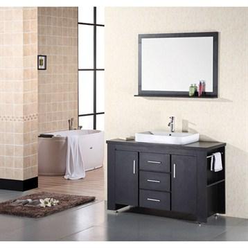"Design Element Washington 48"" Bathroom Vanity Set, Espresso DEC083C by Design Element"