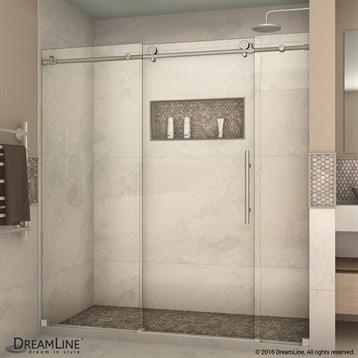 Bath Authority DreamLine Enigma-X 44, 72 in. W x 76 in. H Sliding Shower Door SHDR-61727610 by Bath Authority DreamLine