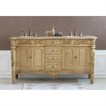 "Virtu USA Alexandria 67"" Double Sink Bathroom Vanity ..."
