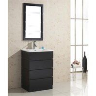 "Virtu USA Bruno 24"" Single Sink Bathroom Vanity - Espresso UM-3085-C-ES"