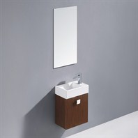 Vigo 16-inch Marina Single Bathroom Vanity with Mirror - Wenge VG09039118K