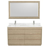 "Naya 60"" Double Bathroom Vanity by Wyndham Collection - Ash Gray WC-1818-60-DBL-VAN-ASG"
