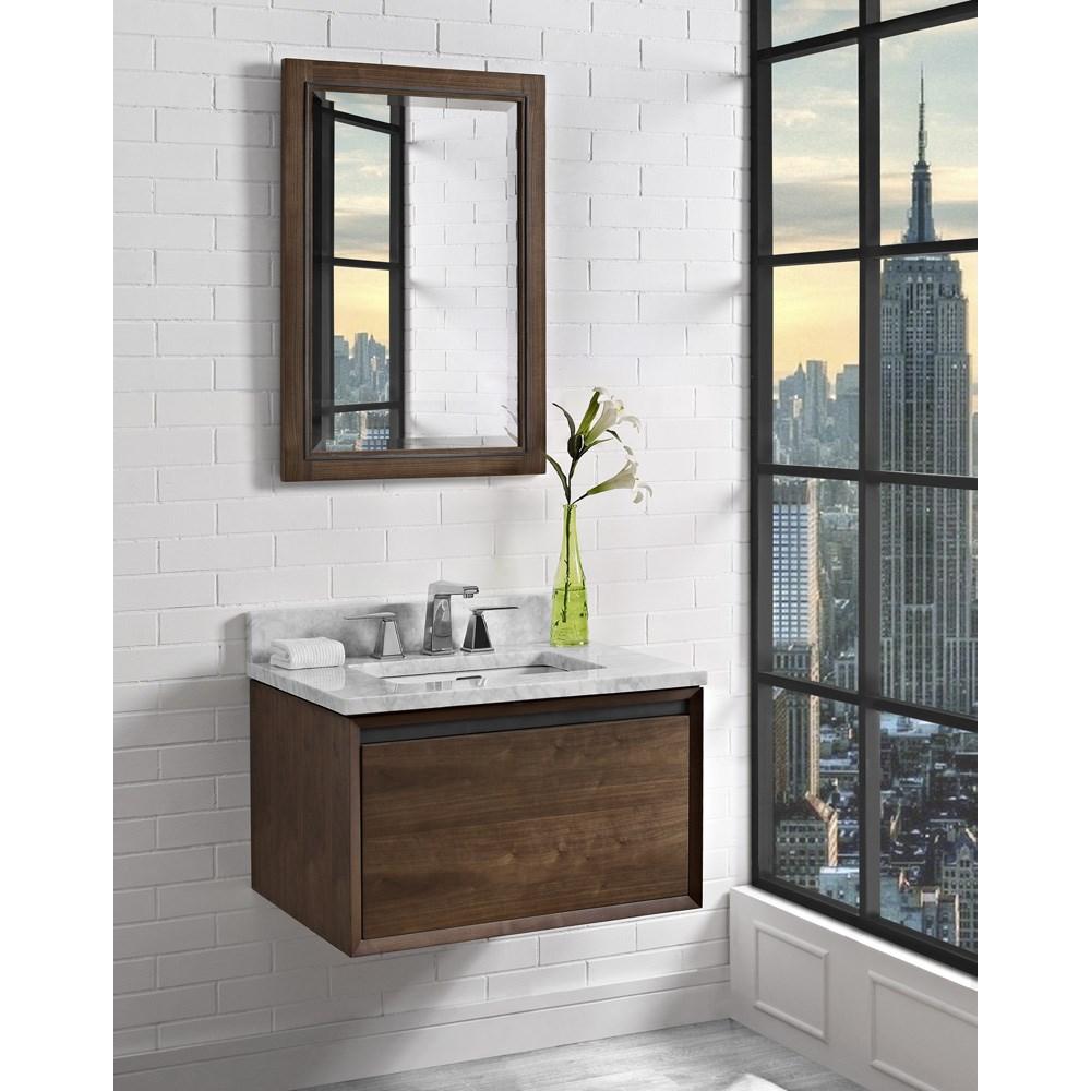"Fairmont Designs M4 30"" Wall Mount Vanity - Natural Walnutnohtin Sale $983.00 SKU: 1505-WV30 :"