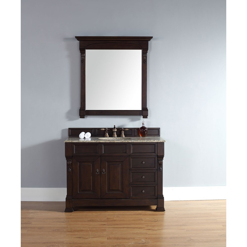 "James Martin 48"" Brookfield Single Vanity with drawers - Burnished Mahogany 147-114-5266"