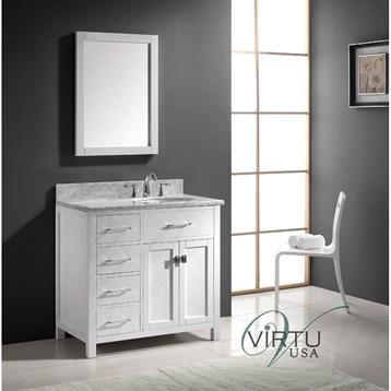 Virtu Usa 36 Quot Caroline Parkway Single Bathroom Vanity