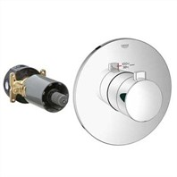 Grohe GrohFlex Cosmopolitan Custom Shower Thermostatic Trim with Control Module - Starlight Chrome GRO 19879XXX